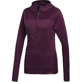 adidas TERREX TraceRocker Jacket Women Red Night